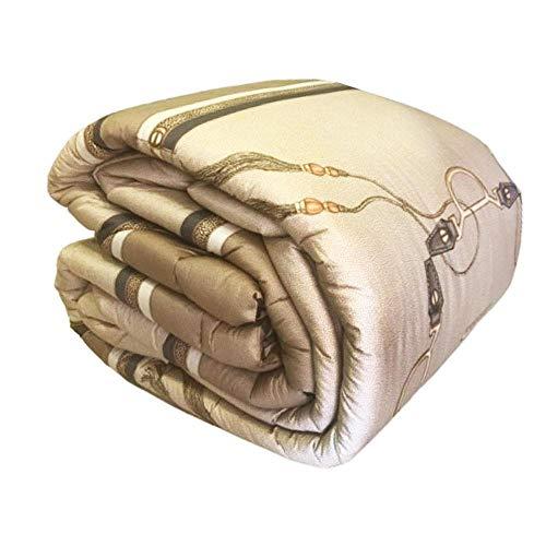 Borbonese Ascot Trapunta Matrimoniale 270x270 Tortora in Percalle di Puro Cotone