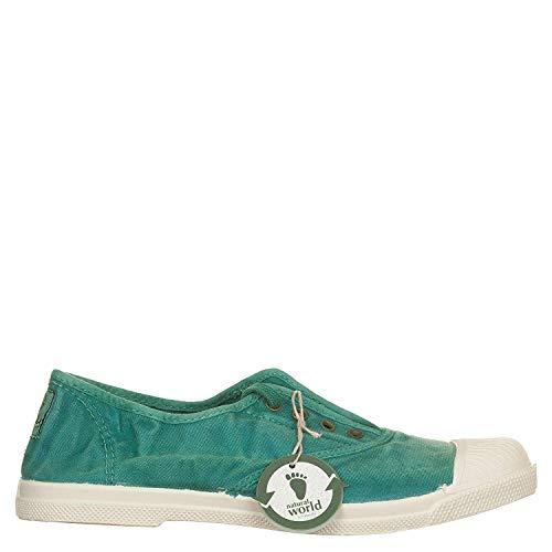 Natural World 102-505 - Zapatos para mujer, color Verde, talla 37 EU