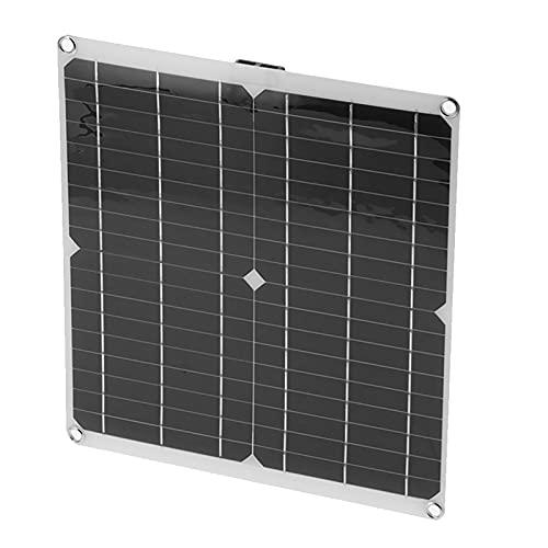 01 Solar Panal, Cargador de batería de Coche Solar a Prueba de Agua Panel de batería de Coche Solar portátil para automóvil, Motocicleta, Barco