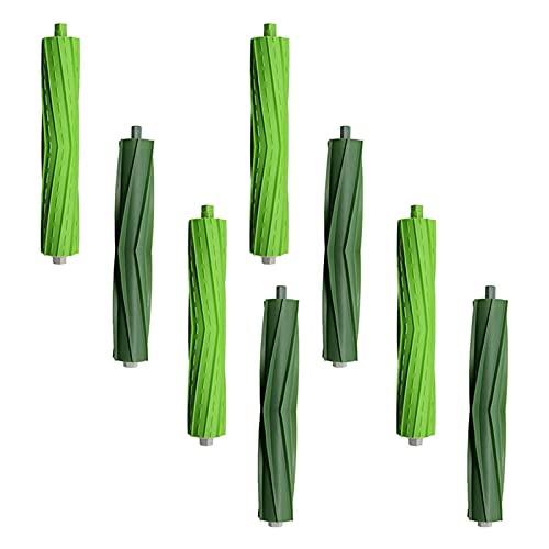durable 4 Conjunto de rodillos de cepillo de goma de superficie múltiple adecuada para Irobot Roomba I & ESERIES I7 I7 + I8 I8 + / FIT FOR PLUS E5 E6 E7 Robot aspiradora Wearable ( Color : Green )