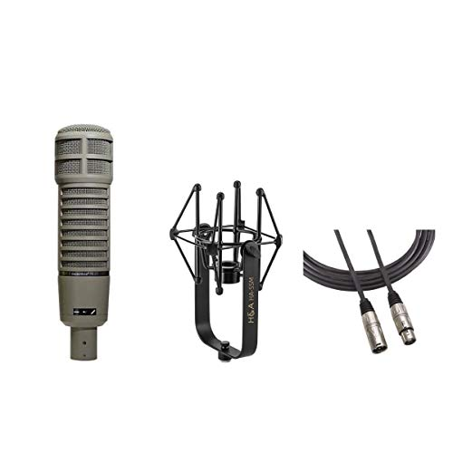 Electro-Voice RE20 Variable-D Dynamic Cardioid Microphone with Shockmount, Broadcast Arm, Shoc kMount, 15