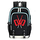 Chad Wild Clay Printed Backpacks Student School Bag Laptop Backpack with USB Charging Port