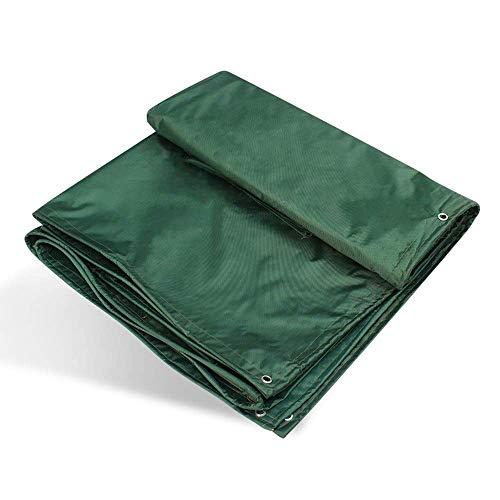 Cubierta de lona verde negro de alto rendimiento material grueso 0.45 molino impermeable ideal para lona, toldo, tienda de campaña, barco, RV o cubierta de piscina (color: A tamaño: 3x3m)
