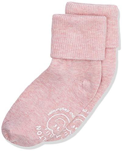 Melton Baby-Mädchen Abs-babysocken-Melange Colours Socken, Rosa (Wild Rose 509), 16 (Herstellergröße: 15-16) EU