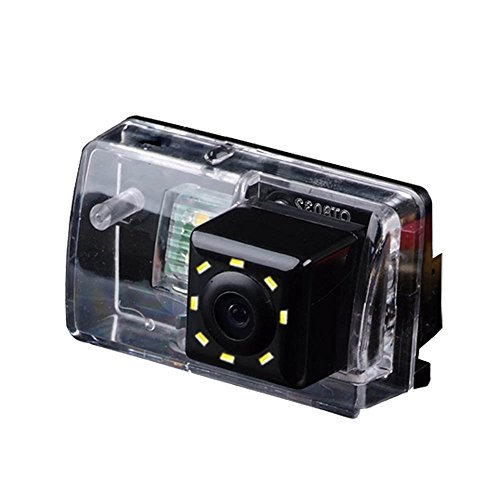 Dynaval HD CCD Caméra de Recul Voiture en Couleur Kit Caméra Vue arrière de Voiture Imperméable IP67 avec Large Vision Nocturne pour Peugeot 206/207 /306/307 /308/406/ 407/5008 SM Sedan