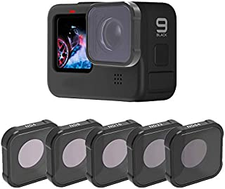 QKOO ND Filters for GoPro Hero 9 Black - Neutral Density ND4/8/16/32/64 Lens Filters (Directly Replace The Standard Protec...