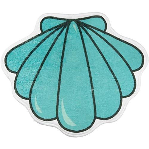 fisura. HM0830 Badematte, Muschel, türkis, Polyester, gepolstert, Rutschfeste Halterung