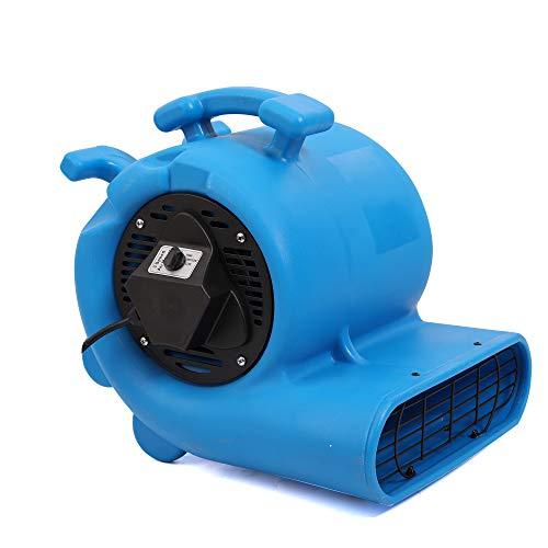MOUNTO 3-Speed 3/4HP 3000CFM Air Mover Floor Carpet Dryers (Blue)