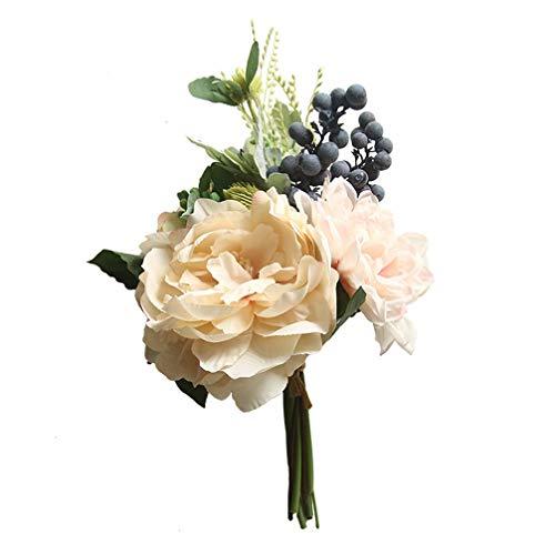 IMIKEYA Flor de Dalia de Simulación Ramo Artificial Arreglos de Bayas Diy Flor de Seda de Aspecto Real para Boda en Casa