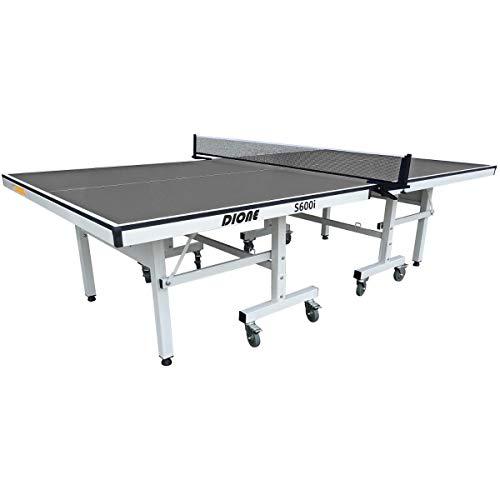 Dione School Sport 600 - Mesa de ping pong compacta para interior (plegable, con ruedas y plegable)