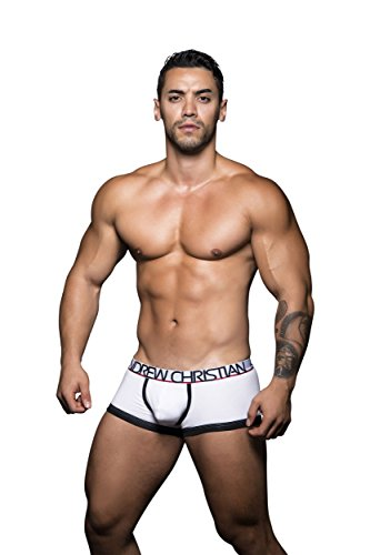 Andrew Christian 90136 Show-It Tagless Cotton Stretch Boxer (S, Weiß)