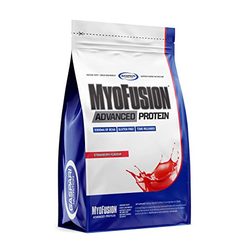 Gaspari Nutrition Myofusion Advanced EU Package of 1 x 500g – Whey Protein Concentrate and Isolate - Micellar Casein - Whey Protein Hydrolyzate – Powder Supplement (Strawberry)