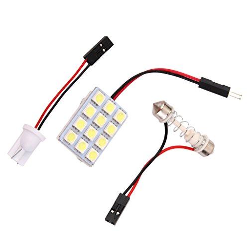 Shiwaki LED 12V 5050 Voiture 12 SMD T10 BA9S Canbus Dome Lampe Ampoule Blanc