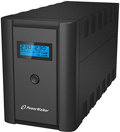 BlueWalker VI 2200 LCD -  2200VA a linea interattiva 2200VA 4AC, Torre nera, gruppo di alimentazione, alimentatore di energia non interrompibile (2200 VA, 1200 W, 170 V, 280 V, 230 V, 230 V)