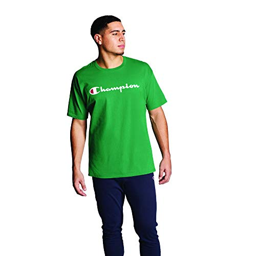 Champion Mens Classic Jersey Graphic Tee Kelly Green MD