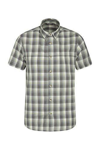 Mountain Warehouse Camisa Weekender de Manga Corta para Hombre - Camisa de...