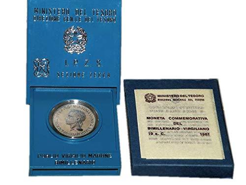 Italia 500 lire Argento'Publio Virgilio Marone' Fior di Conio FDC (11 gr. - 29 mm.) anno 1981 UNA MONETA da collezione Silver Coin IN CONFEZIONE ORIGINALE della Zecca