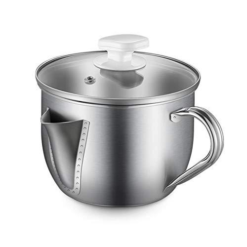 DFFH Filtro de Aceite de Cocina Recipiente de Filtro de Grasa de Acero Inoxidable de 1000 ml para Aceite de Cocina o para freír,B