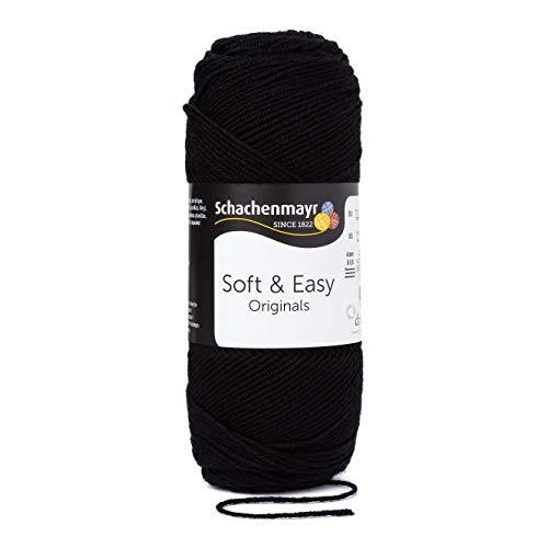 Schachenmayr Handstrickgarne Soft & Easy, 100g Schwarz