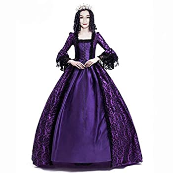 Gothic Victorian Dress/Victorian Princess Dress/Women s Victorian Rococo Dress Inspiration Maiden Costume  3XL Purple