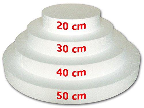 Disques en polystyrène pour gâteau à 4 étages, diamètre 20 cm, 30 cm, 40 cm, 50 cm.