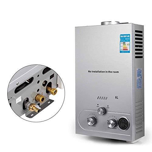 FlowerW 6L LNG Gas-Warmwasserbereiter mit Digitaler LCD-Warmwasserbereiter Automatische Konstante Temperatur(6L LNG)
