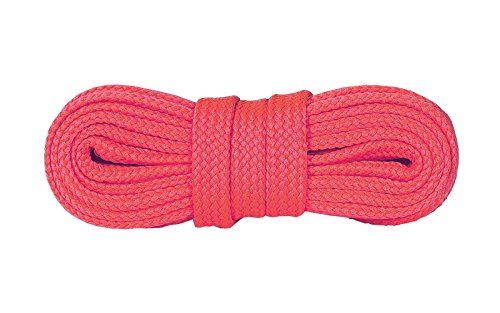 Kaps Schnürsenkel Turnschuhe & Freizeitschuhe, hochwertig, strapazierfähig, hergestellt in Europa, 1 Paar (140 cm - 8 bis 10 Schnürösenpaare/pink fluorescent)