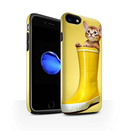 Stuff4 telefoonhoesje/Cover/Skin/IP-3DTBG / schattige kittens collectie Apple iPhone SE 2020 Wellington Laarzen