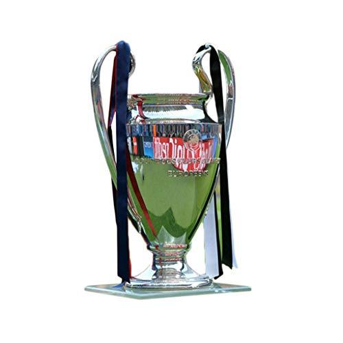 Trofei Champions League Trophy Golden Champion Trophy Base in Marmo Premier Britannico Liverpool Souvenir Miglior Regalo Medaglia Modello (Color : Silver, Size : 32 * 23 * 18cm)