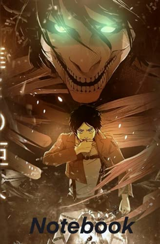 Attack on Titan anime Notebook :: Eren Jaeger from shingeki no kyojin anime lovers and otakus great for gift to Eren yaeger fans and any occasion