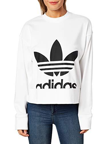 adidas Sweater Felpa Girocollo Donna Bianca EC5777 Bianco 40