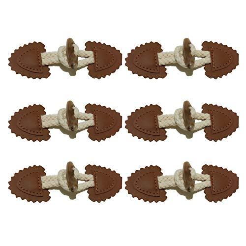 Cierre Con Botón Botones Para Abrigo Abrigo Para Diy Botones Cierre Cuernos Botones Botones Cuero Cuerno Botones Botones De Coser Para Decoración Ropa De La Chaqueta De Abrigo DIY(6 piezas )