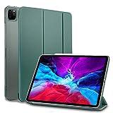 MS factory iPad Pro 12.9 2020 ケース カバー iPadPro 12.9インチ 第4世代 Apple Pencil ワイヤレス充電 対応 アイパッド プロ スマートカバー オートスリープ 全6色 パイングリーン IPDPRO4-SMART-DGR