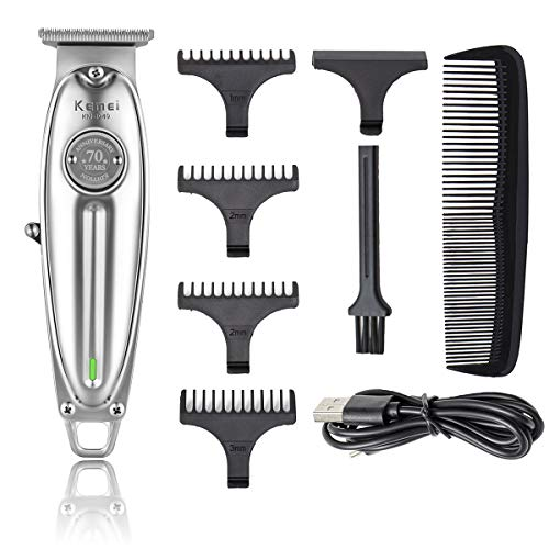 Kemei Professional T-Outliner Beard/Hair Trimmer with T-Blade Hair Clippers for Men Stylists and Barbers Cordless Rechargeable Quiet