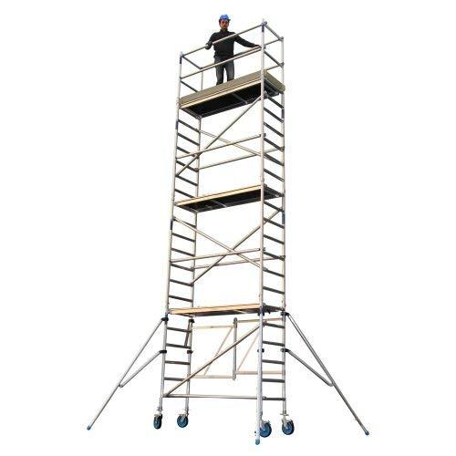 Alumexx FS 100 Type E-X - Aluminium Vouw-Steiger - Vouw-Steiger - Rol - Steiger - Modulaire Opbouw op Wielen - 8 m werkhoogte - Hollands Fabricaat