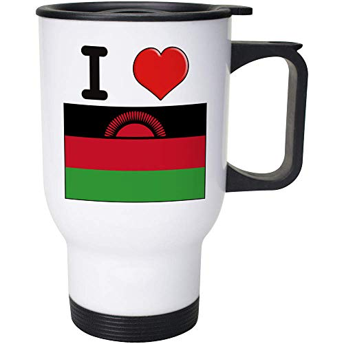 Stamp Press 400ml 'I Love Malawi' Wiederverwendbarer Kaffee / Reise-Becher (MG00000824)