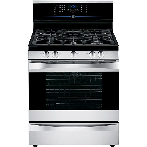 Kenmore Elite 75353 5.5 cu. ft. Self Clean Dual Fuel Range in Stainless Steel,...