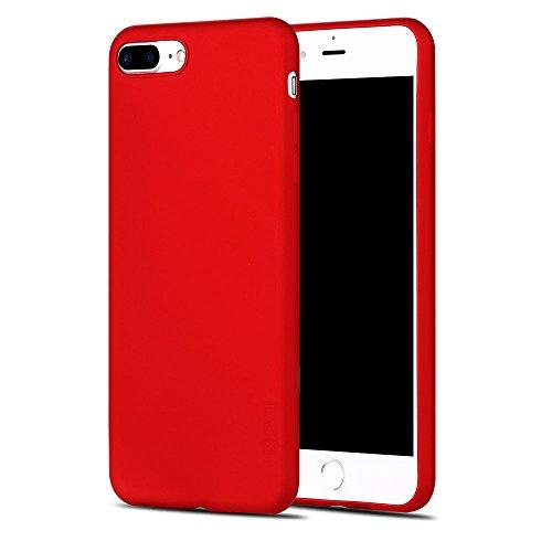 X-level Cover iPhone 8 Plus, Cover iPhone 7 Plus, [Guardian Series] Ultra Sottile e Morbido TPU Protettiva Custodia Silicone Rubber Protezione Cover per iPhone 8 Plus/ 7 Plus, Rosso