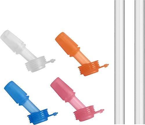 CamelBak eddy+ Kids 4-pack, Bite Valve & Straws, Multi Color
