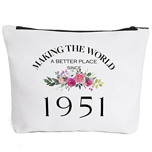 70th Birthday Gifts for Women Mom Grandma Aunt BFF Friends Teacher Boss Staff Colleague Coworker-Making The World Since 1951- 70 Years Old Gifts Ideas For Women Turning 70 for Wife Sisters Her