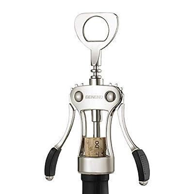 Wine Opener, Zinc Alloy Premium Wing Corkscrew Wine Bottle Opener with Multifunctional Bottles Opener, Upgrade