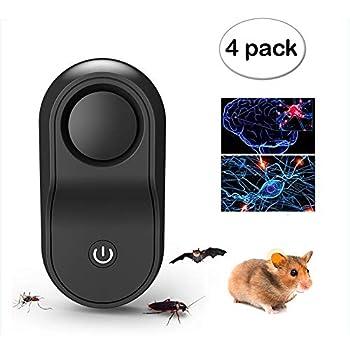 ZDYLM-Y Répulsifs Ultrason Rongeur Souris Rat 2019 Nouveau Intelligent Conversion de fréquence Automatique 4D Son Magique 360 ° Surround stéréo Pas de Bruit Insectifuge,Black