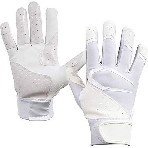 Cutters(カッターズ) 野球 手袋 バッティング グローブ B442S パワーコントロール3.0 ソリッド S WH