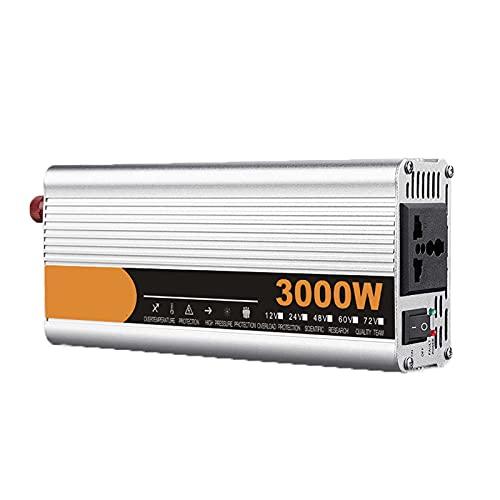 FDQNDXF Inversor de Corriente 2200W / 2600W / 3000W Inversor de Onda Sinusoidal Modificada DC 12V / 24V a AC 220V Convertidor de Voltaje con Enchufe, para Emergencias en el Hogar/al Aire Libre