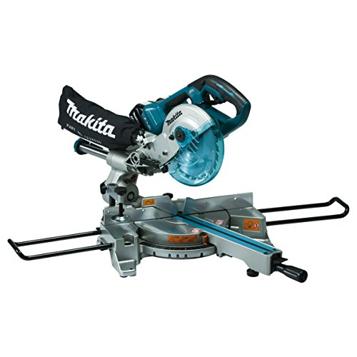 Makita DLS714Z Slide Compound Mitre Saw Twin 18V Cordless LTX 190mm (Body Only), 1 W, 36 V, Multi, Large