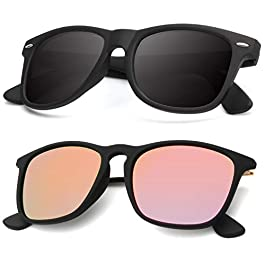 Polarized Sunglasses for Men and Women | Matte Finish Sun glasses...