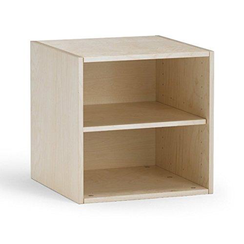 traturio Hochwertiger Kombi Regalwürfel Birke Multiplex mit Echtholzfurnier, individualisierbar, für Kinderzimmer, Büro, Garderobe.