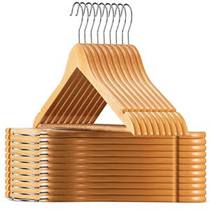 Aspect Wooden Hangers (20 Pack) - Smooth Finish Solid Wood Coat Hanger with...