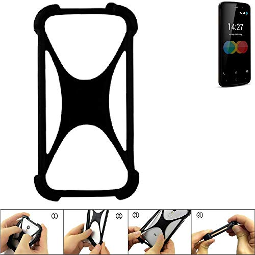 K-S-Trade Handyhülle für Allview P6 eMagic Schutz Hülle Silikon Bumper Cover Case Silikoncase TPU Softcase Schutzhülle Smartphone Stoßschutz, schwarz (1x)
