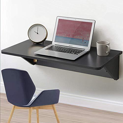 XLAHD Klappbarer Drop-Leaf-Tisch an der Wand, an der Wand montierter Drop-Leaf-Tisch aus Massivholz, klappbarer Küchen-Esstisch, Computertisch mit doppelter Unterstützung, Wandtische am Schreibtisch